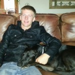 My Son, Gabe, with Harley
